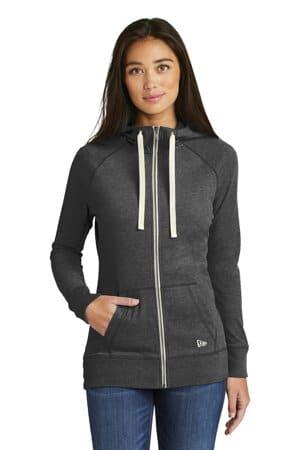 new era ladies sueded cotton blend full-zip hoodie lnea122