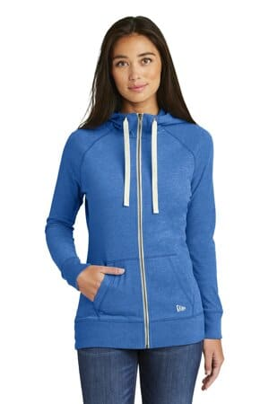 new era ladies sueded cotton blend full-zip hoodie lnea122