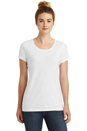 new era ladies tri-blend performance scoop tee lnea130
