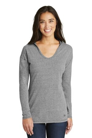 new era ladies tri-blend performance pullover hoodie tee lnea131