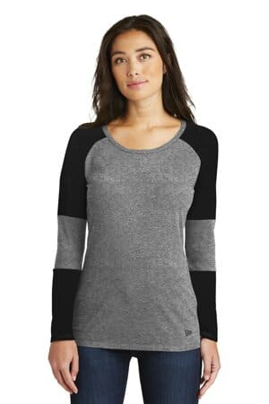new era ladies tri-blend performance baseball tee lnea132