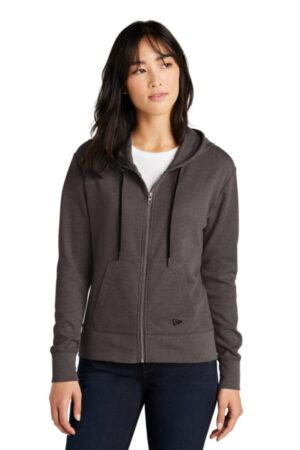 LNEA141 new era ladies thermal full-zip hoodie