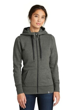 new era ladies french terry full-zip hoodie lnea502