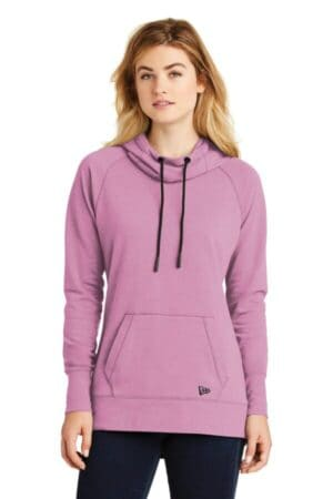 new era ladies tri-blend fleece pullover hoodie lnea510