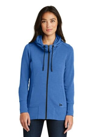 new era ladies tri-blend fleece full-zip hoodie lnea511