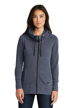 new era ladies tri-blend fleece full-zip hoodie lnea511