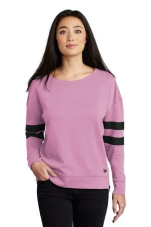 new era ladies tri-blend fleece varsity crew lnea513