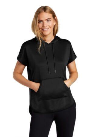 LNEA533 new era ladies performance terry short sleeve hoodie