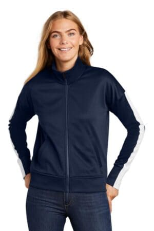LNEA650 new era ladies track jacket lnea650