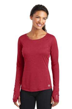 ogio endurance ladies long sleeve pulse crew loe321