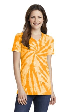 LPC147V port & company ladies tie-dye v-neck tee lpc147v