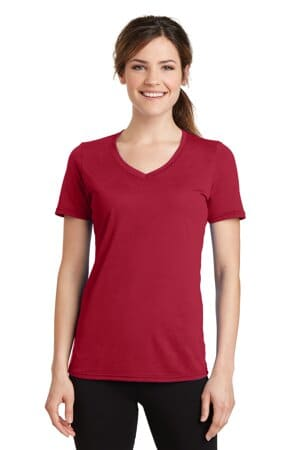 port & company ladies performance blend v-neck tee lpc381v