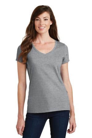 port & company ladies fan favorite v-neck tee lpc450v