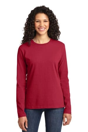 port & company ladies long sleeve core cotton tee lpc54ls