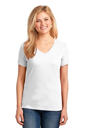 LPC54V port & company ladies core cotton v-neck tee