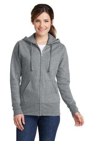 port & company ladies core fleece full-zip hooded sweatshirt lpc78zh