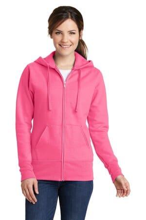 LPC78ZH port & company ladies core fleece full-zip hooded sweatshirt