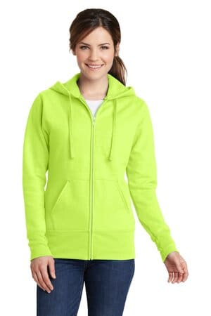 port & company ladies core fleece full-zip hooded sweatshirt lpc78zh