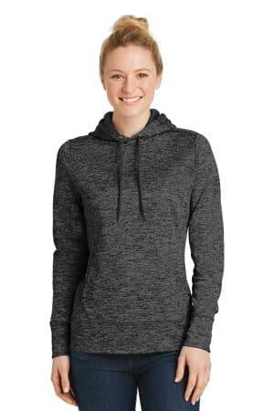 LST225 sport-tek ladies posicharge electric heather fleece hooded pullover