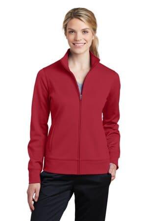 sport-tek ladies sport-wick fleece full-zip jacket lst241