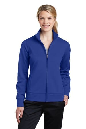 sport-tek ladies sport-wick fleece full-zip jacket lst241