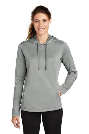 sport-tek ladies posicharge sport-wick heather fleece hooded pullover lst264