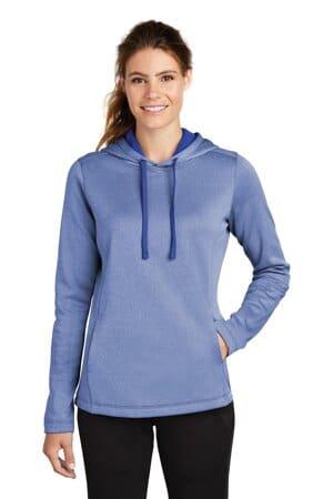 sport-tek ladies posicharge sport-wick heather fleece hooded pullover lst264