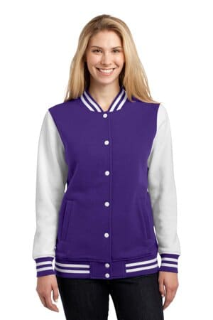 LST270 sport-tek ladies fleece letterman jacket
