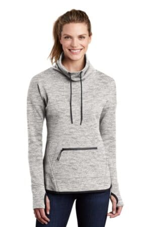 sport-tek ladies triumph cowl neck pullover lst280
