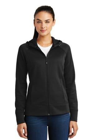 sport-tek ladies rival tech fleece full-zip hooded jacket lst295