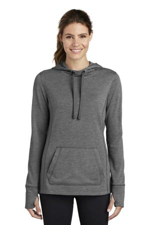 LST296 sport-tek ladies posicharge tri-blend wicking fleece hooded pullover