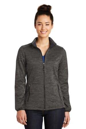 sport-tek ladies posicharge electric heather soft shell jacket lst30
