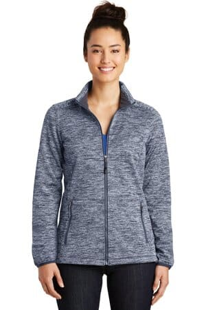 sport-tek ladies posicharge electric heather soft shell jacket lst30