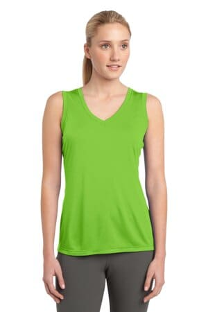 sport-tek ladies sleeveless posicharge competitor v-neck tee lst352