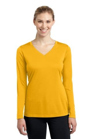 sport-tek ladies long sleeve posicharge competitor v-neck tee lst353ls