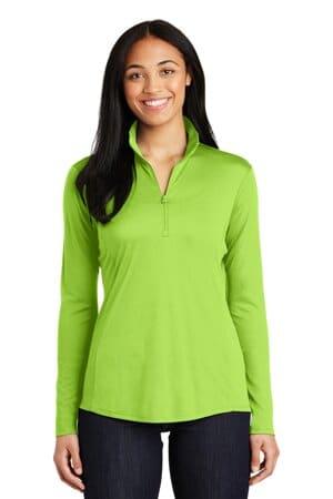 sport-tek ladies posicharge competitor 1/4-zip pullover lst357