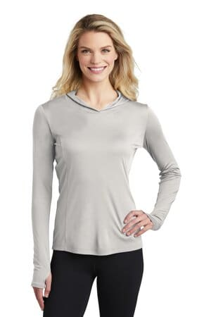 sport-tek ladies posicharge competitor hooded pullover lst358