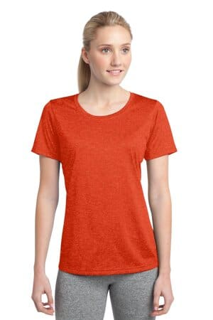 sport-tek ladies heather contender scoop neck tee lst360
