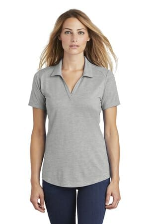 sport-tek ladies posicharge tri-blend wicking polo lst405