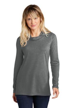 LST406 sport-tek ladies posicharge tri-blend wicking long sleeve hoodie