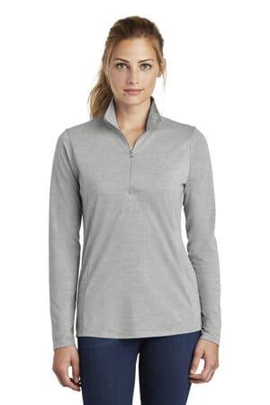 LST407 sport-tek ladies posicharge tri-blend wicking 1/4-zip pullover