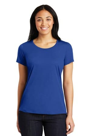 sport-tek ladies posicharge competitor cotton touch scoop neck tee lst450