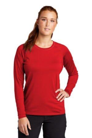 LST470LS sport-tek ladies long sleeve rashguard tee