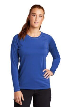 sport-tek ladies long sleeve rashguard tee lst470ls