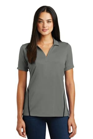 sport-tek ladies contrast posicharge tough polo lst620