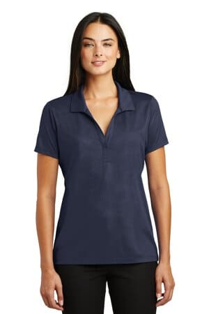sport-tek ladies embossed posicharge tough polo lst630