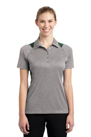 sport-tek ladies heather colorblock contender polo lst665