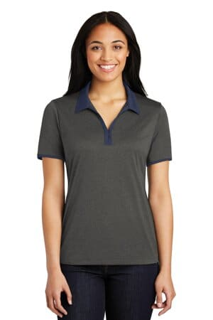 sport-tek ladies heather contender contrast polo lst667