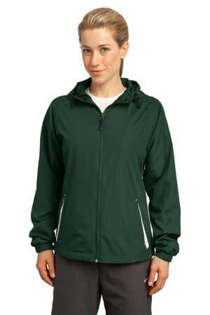 LST76 sport-tek ladies colorblock hooded raglan jacket