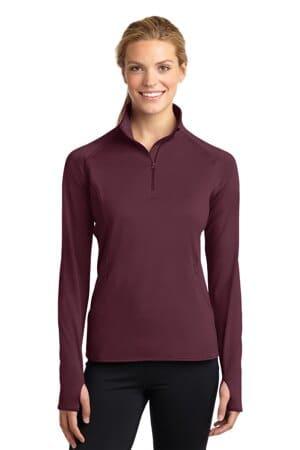 LST850 sport-tek ladies sport-wick stretch 1/2-zip pullover